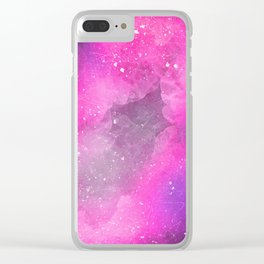 Space Watercolor Clear iPhone Case