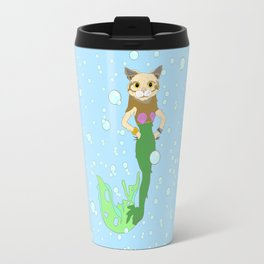 Cat Fish Mermaid Travel Mug