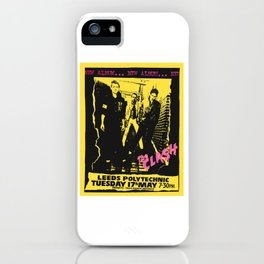 Live 1977 at Leeds Polytechnic. iPhone Case