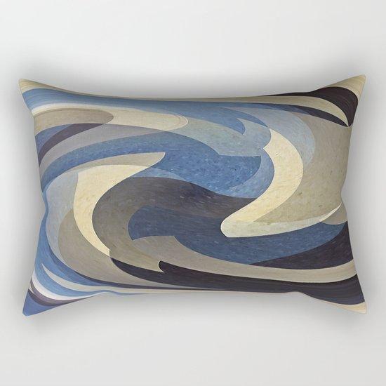 Bluetan Swirl Rectangular Pillow