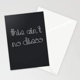 This Ain't No Disco Charcoal Stationery Cards