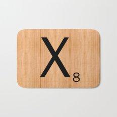 Scrabble Letter Tile - X Bath Mat