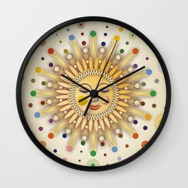Sunshine with Placidity Wall Clock