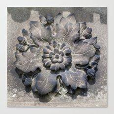 Carved Flower Canvas Print