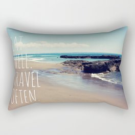 Eat Well Travel Often Rectangular Pillow