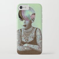 barbie iPhone & iPod Cases featuring BARBIE ILLUSTRATED by Julia Lillard Art