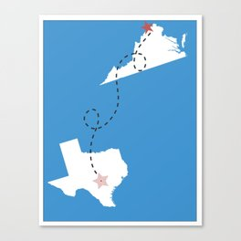 Virginia is For Lovers But Texas is Forever Canvas Print