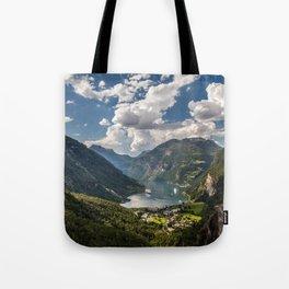 Geiranger Fjord Norway Mountains Tote Bag