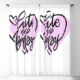 Cute and Ballsy Blackout Curtain