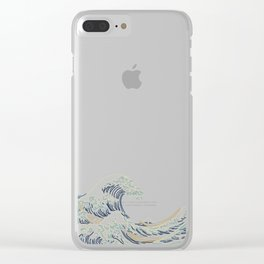 Minimal Wave Clear iPhone Case