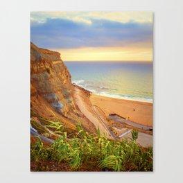 cliffs ericeira surf Canvas Print