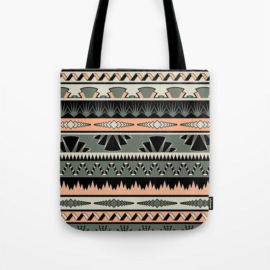art deco stripes - salmon Tote Bag
