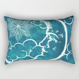 Moon vintage marine green Rectangular Pillow