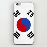 korean iPhone & iPod Skins featuring South Korean Flag  by Laura Ruth