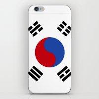 korean iPhone & iPod Skins featuring South Korean Flag  by Laura Ruth