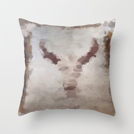 Car Part Cow Skull Throw Pillow