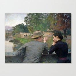 Émile Friant - The Lovers - Les Amoureux Canvas Print