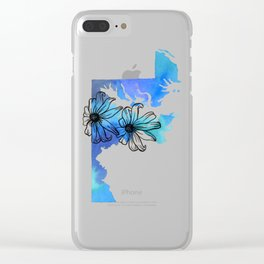 Watercolor Maryland + Black Eyed Susans Clear iPhone Case