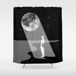 The moon knows me Shower Curtain