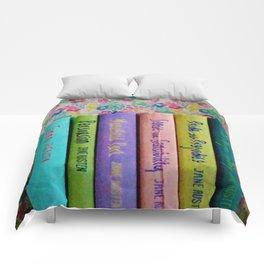 Jane Austen Library Comforters