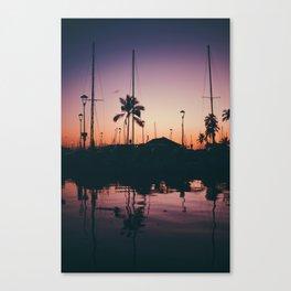 Purple and Orange Skies Canvas Print