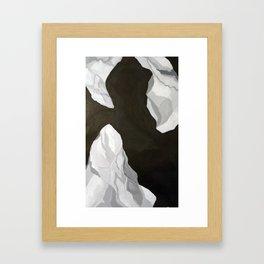 plastic bag floating in the wind Framed Art Print