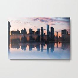 Downtown Reflections Metal Print
