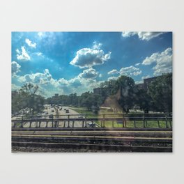 View From A Train Canvas Print