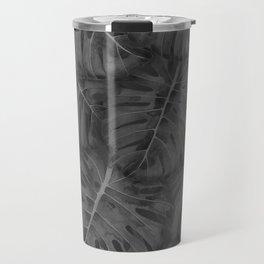 NOIR MONSTERA, by Frank-Joseph Travel Mug