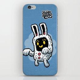 Rabbit doodle iPhone Skin