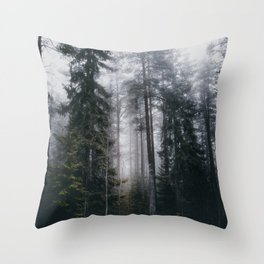Into the forest we go Throw Pillow