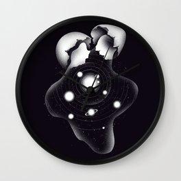 Cosmic Egg Shell Wall Clock