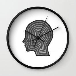 Abstract head profile Wall Clock