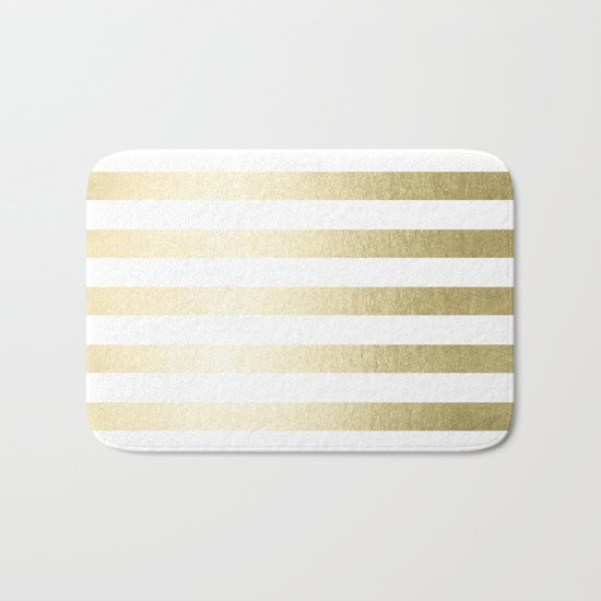 Simply Striped Gilded Palace Gold Bath Mat By Simple Luxe