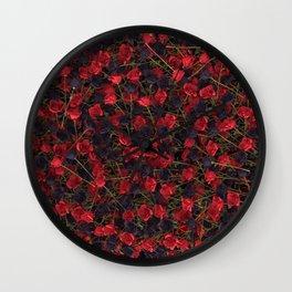 Full of roses Wall Clock