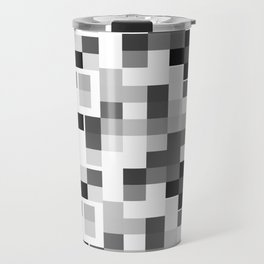 Grayscale Squares Travel Mug