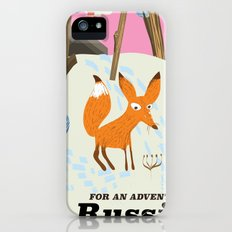 Russia Fox vintage travel poster Slim Case iPhone SE