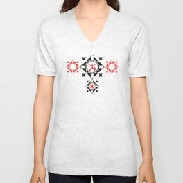 Coqui Taino Abstract Unisex V-Neck