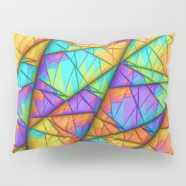 Colorful Slices Pillow Sham