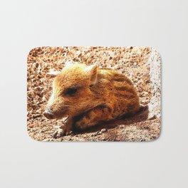CArt wild boar baby Bath Mat