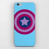 bisexual iPhone & iPod Skins featuring American Pride (bisexual edition) by Nikki Homicide