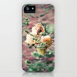 Flowers on Lomochrome Film iPhone Case