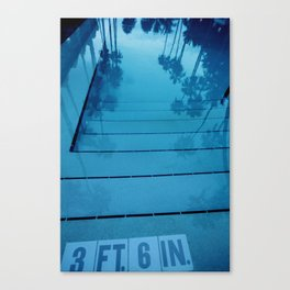 Poolside, Miami.  Canvas Print