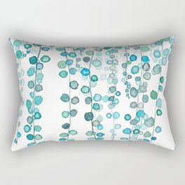 String Of Pearls plants watercolor 2 Rectangular Pillow