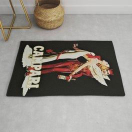 Vintage Campari Italian Bitters Aperitif Angel and Devil Advertisement Poster Rug