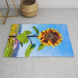 Sunflower Standing Tall by Reay of Light Rug