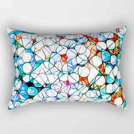 Glass stain mosaic 4 - dots & checkers Rectangular Pillow