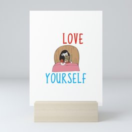 Learning To Love Yourself Self Confidence Mini Art Print