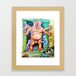 At the Vaults of Zin Framed Art Print