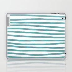Ocean Green Hand-painted Stripes Laptop & iPad Skin